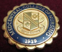 Image of MedCentral College of Nursing pin. - Nursing pin