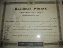 Image of Diploma issued to Anna S. Arnold June 6, 1885.  Ashland College, Ashland, O