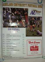 Image of Poster Ashland University football 2002.  Includes football schedule.