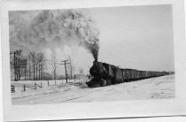 Image of Photograph 16, by Lloyd Snyder, ca. 1910, Erie train pulling past the Snyde