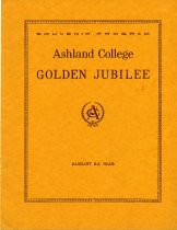 Image of 50th Anniversary year Ashland College 1928
