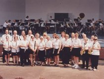 Image of Ashland University band camp September 8, 2004.
