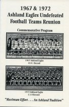Image of 1967 and 1972 undefeated Ashland University football team reunion 1997