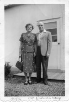 Image of Photograph, Hazel and Welcome Metcalf, Newark, OH, 1955.
