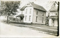Image of Photograph, Grandpa Miller's house on College Ave. in Ashland.  On west was