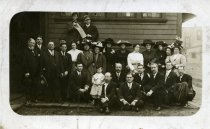 Image of Photograph unknown date-group [Ashland train depot, Ashland, Ohio].