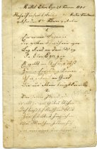 Image of Poem concerning the death of Martin Troutman 1845.