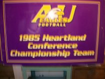 Image of Poster-oversized- Ashland University eagles football placard signs used for the following homecoming celebrations events in 2005. - Poster