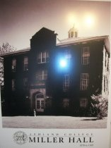 Image of Poster oversized- Miller Hall Ashland College. Black and White view taken about 1970. - Poster
