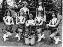 Image of Ashland College, Ashland, Ohio Majorettes 1977.