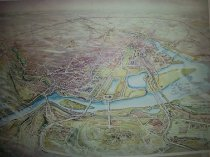 Image of Print map of Washington DC created by Gerard Richardson.  - Artwork