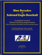 Image of 2013-04blue - Nine Decades of Ashland Eagle Baseball/ a complete record of Ashland Univeristy baseball results from inception through the first ninety years.