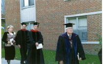 Image of Seminary graduation program, Ashland University campus.  Those pictured inc