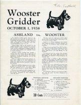 Image of 2011-021938football1001 - Wooster Gridder October 1, 1938 Ashland vs Wooster.