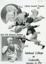 Image of Official Souvenir Program Ashland College vs Cedarville College Redwood Sta