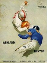 Image of 2011-021952football1101 - Ashland vs Kenyon Redwood Stadium Saturday, Nov. 1, 1952 1:30 P.M.