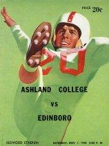 Image of 2011-021958football1101 - Ashland College vs Edinboro Redwood Stadium Satruday, Nov. 1, 1958 8:00 P.M.
