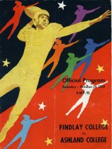 Image of Offical Program Saturday-October 24, 1959 8:00 P.M. Findlay College vs Ashl