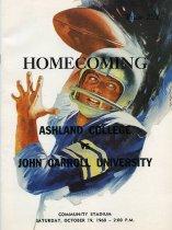 Image of Ashland College vs John Carroll 1968 football