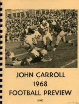 Image of Ashland College vs John Carroll 1968 football preview.