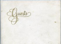 Image of Guestbook-Given to us [Home Management House] from Dr. Vanosdall February 11, 1977. - Guestbook