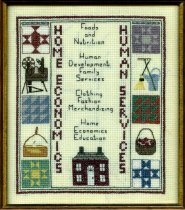 Image of Artwork-cross stich needle point.  Home Economics Human Services.  - Artwork