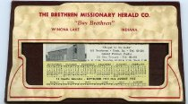 "Image of Desk calendar The Brethren Missionary Hearld Co. ""Buy Brethren"" Winona Lake, Indiana - Calendar"
