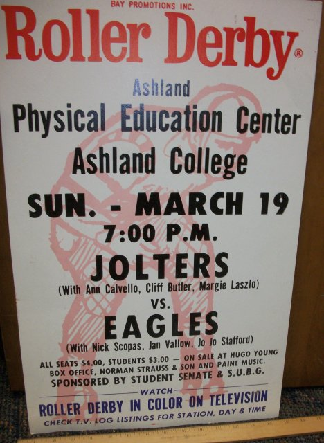 Poster Bay Promotions Inc Roller Derby Ashland Ohio Physical
