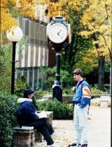 Image of Ashland University, Ashland, Ohio students near Patterson Technology Center