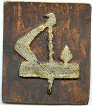 Image of Artwork-ceramic/clay tile.  Symbol of the Betty Lamp. - Artwork