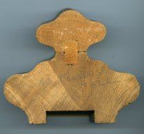 Image of Wooden railing section pieces from main staircase in old Founders Hall, Ashland College, Ashland, Ohio.   - Objects Collection