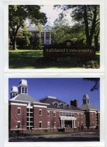 Image of Postcard collection of 4 views of the following Ashland University, Ashland, Ohio buildings 1-Founders hall, Dauch College of Business, Sports Recreation Center and Schar College of Education. - Postcard
