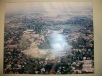 Image of Aerial view photograph oversized Ashland College, Ashland, Ohio campus look