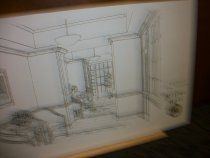 Image of Set of 6 architect renderings Miller Hall Ashland University, Ashland, Ohio campus buildings potential renovations. - Objects Collection