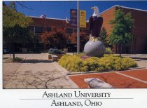 Image of Set of four postcards- Ashland University, Ashland, Ohio.  Images date from mid 1990's.  Images include Physical Education Center, The Gill Center, Hawkins-Conard Student Center, Hugo Young Theatre. - Postcard