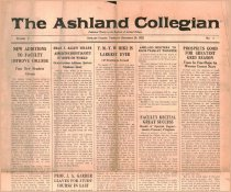 Image of 10-1919220928 - The Ashland Collegian September 28, 1922 Volume 1 Number 1