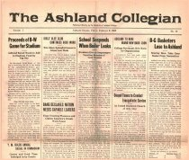 Image of 10-1919230209 - The Ashland Collegian February 9, 1923 Volume 1 Number 15