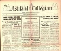 Image of 10-1919241219 - The Ashland Collegian December 19, 1924 Volume 3 Number 12
