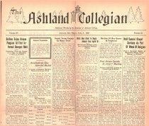 Image of 10-1919250403 - The Ashland Collegian April 3, 1925 Volume 3 Number 23
