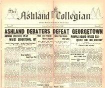 Image of 10-1919260409 - The Ashland Collegian April 9, 1926 Volume 4 Number 23