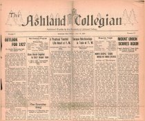 Image of 10-1919270114 - The Ashland Collegian January 14, 1927 Volume 5 Number 13