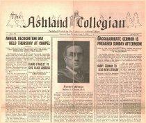 Image of 10-1919280605 - The Ashland Collegian April 5, 1928 sic [June 5] Volume 6 Number 30