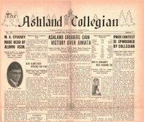 Image of 10-1919281026 - The Ashland Collegian October 26, 1928 Volume 7 Number 5