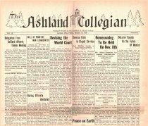 Image of 10-1919301010 - The Ashland Collegian October 10, 1930 Volume 9 Number 3