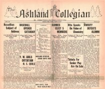 Image of 10-1919310424 - The Ashland Collegian April 24, 1931 Volume 9 Number 24