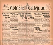 Image of 10-1919310508 - The Ashland Collegian May 8, 1931 Volume 9 Number 26