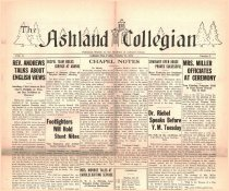 Image of 10-1919311023 - The Ashland Collegian October 23, 1931 Volume 10 Number 5