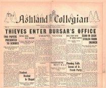 Image of 10-1919311030 - The Ashland Collegian October 30, 1931 Volume 10 Number 6