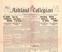 Image of 10-1919311211 - The Ashland Collegian December 11, 1931 Volume 10 Number 11