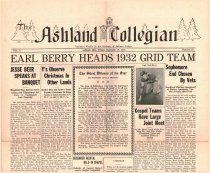 Image of The Ashland Collegian December 19, 1931